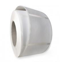 Etiquettes double découpe 65x65mm / Papier Mat blanc / Bobine échenillée de 1000 étiquettes