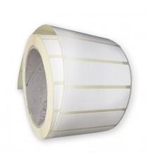 Etiquettes adhésives 55x140mm / Papier blanc brillant / Bobine échenillée de 500 étiquettes GS