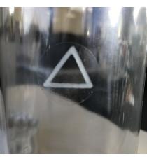 Etiquettes de danger diam. 20 mm Triangle TACTILE 16 mm / PP transparent / Bobine échenillée de 2500 étiquettes GS