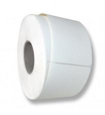 Bobine étiquettes vierge 60x80mm / Acquerello Blanc Avorio / Bobine échenillée de 1000 étiquettes GS