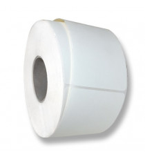 Etiquettes autocollantes vierge 80x60mm / Acquerello blanc / Bobine échenillée de 1000 étiquettes GS