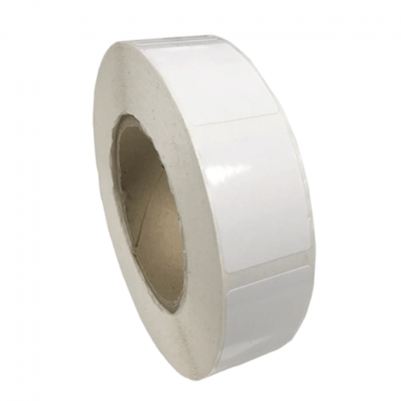 Etiquettes 32x40mm papier blanc brillant