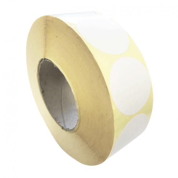 Etiquettes rondes 50mm papier velin blanc