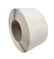 Etiquettes rondes diam. 75mm / Acquerello blanc / Bobine échenillée de 1000 étiquettes GS