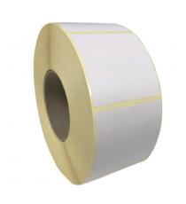 Etiquettes double découpe rondes diam. 50mm / Couché mat blanc / Bobine échenillée de 1000 étiquettes GS
