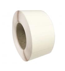 Etiquettes 80X60mm / Papier centaure ivoire / Bobine échenillée de 1000 étiquettes GS