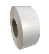 Etiquettes 36x86mm / Papier polypro satiné / bobine échenillée de 2500 étiquettes / 2 etiq. de front