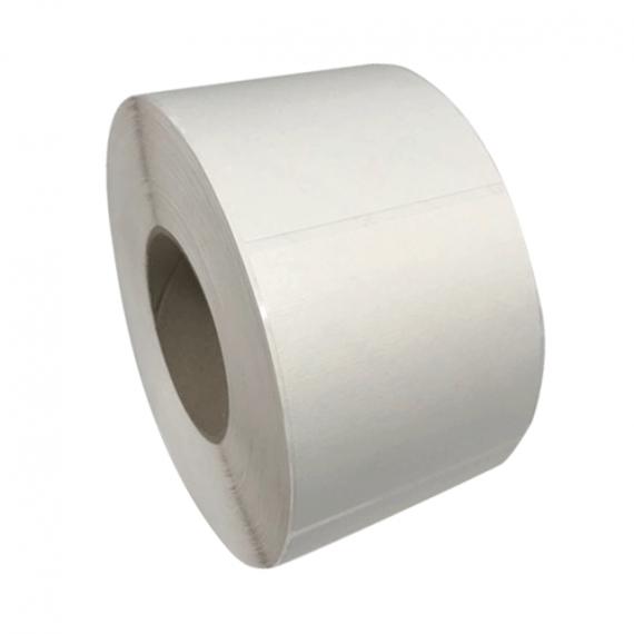 Etiquettes neutres 80x60mm / Vergé Blanc / Bobine échenillée de 1000 étiquettes GS