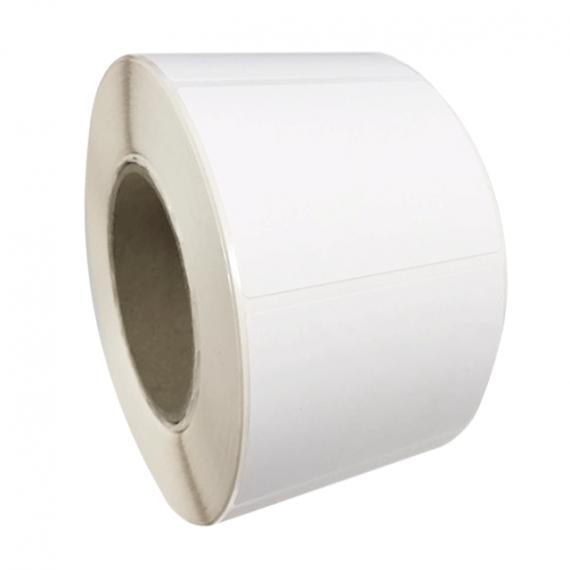 Etiquettes adhésives en rouleau 120x90 mm / Couché mat blanc / Bobine échenillée de 500 étiquettes GS