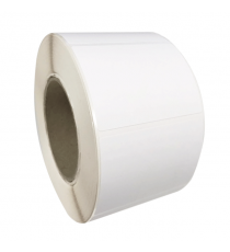 Etiquettes autocollantes 70x60mm / Papier Mat blanc / Bobine de 1000 étiquettes
