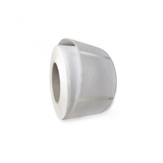 Etiquettes double découpe 45x25mm / Couché mat blanc / Bobine échenillée de 1000 étiquettes GS