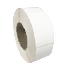 Etiquettes adhésives 50x85mm / Polypro blanc mat / Bobine échenillée de 1000 étiquettes GS