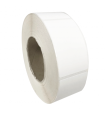 Etiquettes adhésives 75x75mm / Polypro blanc mat / Bobine échenillée de 1000 étiquettes GS