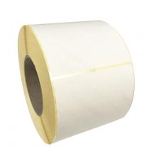 Etiquettes adhésives vierges 80x60mm / Vergé ivoire / Bobine échenillée de 1000 étiquettes GS