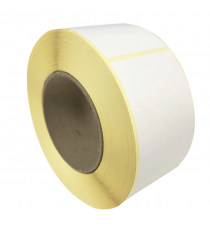 Etiquettes 50x50mm / Papier blanc Velin / Bobine échenillée de 1000 étiquettes GS