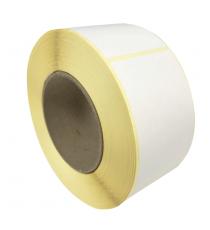 Etiquettes neutres 60x80mm / Papier Velin blanc / Bobine échenillée de 1000 étiquettes GS