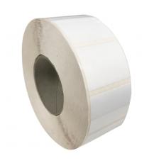 Etiquettes neutres 70x100mm / Papier Polypro brillant / Bobine échenillée de 1000 étiquettes GS