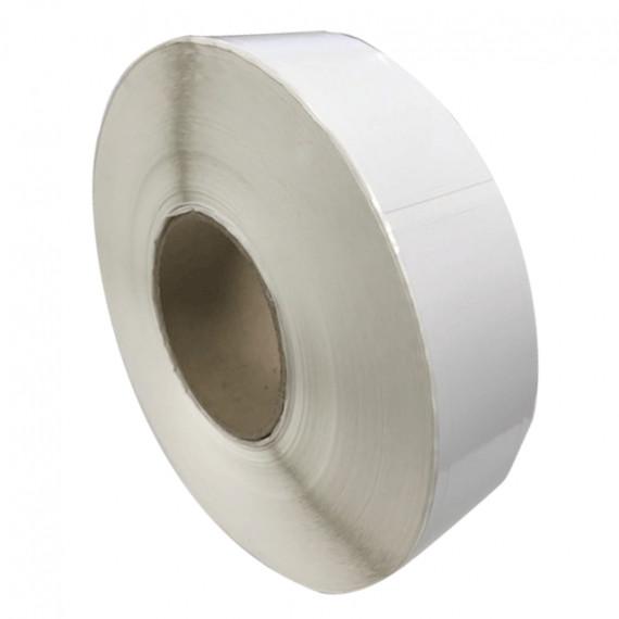 Etiquettes double découpe 35x75mm / Papier blanc brillant / Bobine échenillée de 1 000 étiquettes GS