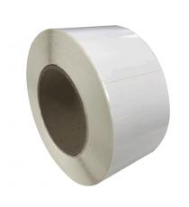 Etiquettes vierges 80x70mm / Papier blanc brillant / Bobine échenillée de 1000 étiquettes GS