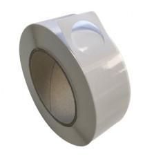 Etiquettes double découpe 40x40mm diam. 30mm