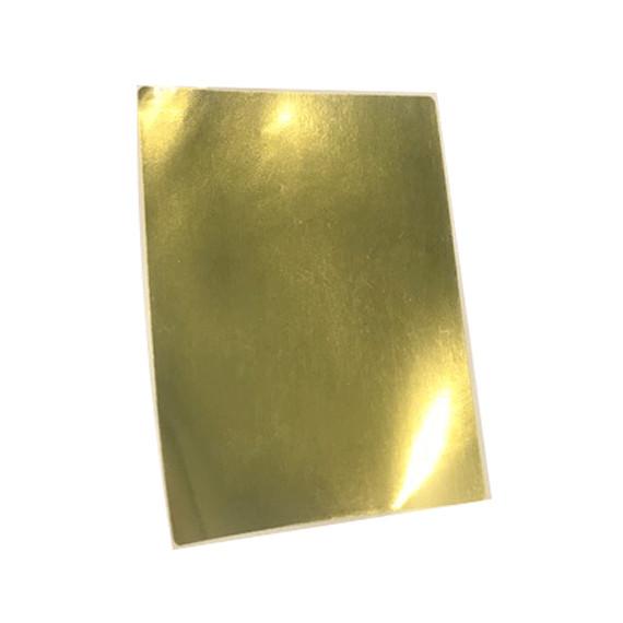 Etiquettes 80x60 mm / Polypro Or brillant