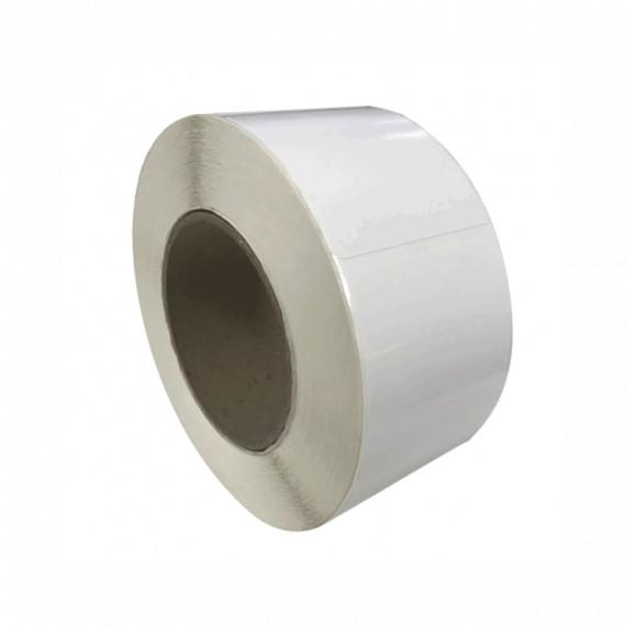 Bobine d'étiquettes blanc brillant 38 x 38 mm / bobine de 900 étiq / mandrin 40 mm