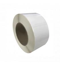 Bobine d'étiquettes 76 x 25 mm blanc brillant / bobine de 1900 étiq / mandrin 40 mm
