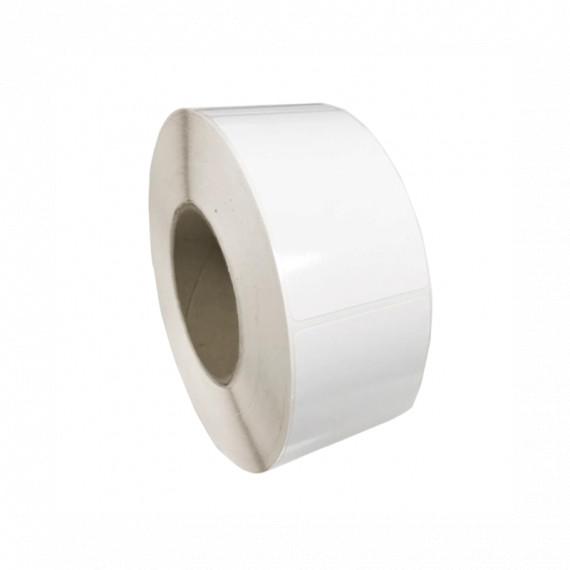 Bobine d'étiquettes 76 x 64 mm blanc brillant / bobine de 800 étiq.