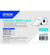 EPSON étiquette adhésif Continu Premium Matte 102X35mm pour TM-C3500