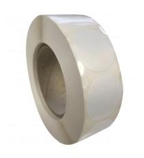 Etiquettes Diam 30mm / Polypro blanc brillant / Bobine échenillée de 2000 étiquettes GS